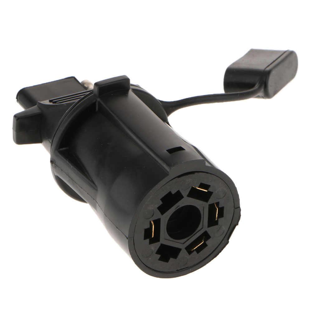 7-Cara untuk 4-Way Flat Trailer Kemping Kabel Konektor Adaptor 7pin untuk 4 Pin