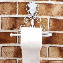 3 estilos de portarrollos de papel higiénico de hierro, soporte de pared para baño, soporte de papel higiénico, soporte de papel negro Vintage para el hogar, manualidades decorativas