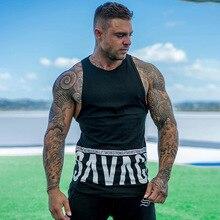 Summer mens casual wear 2019 new muscle bodybuilding fashion vest brand sportswear streetwear