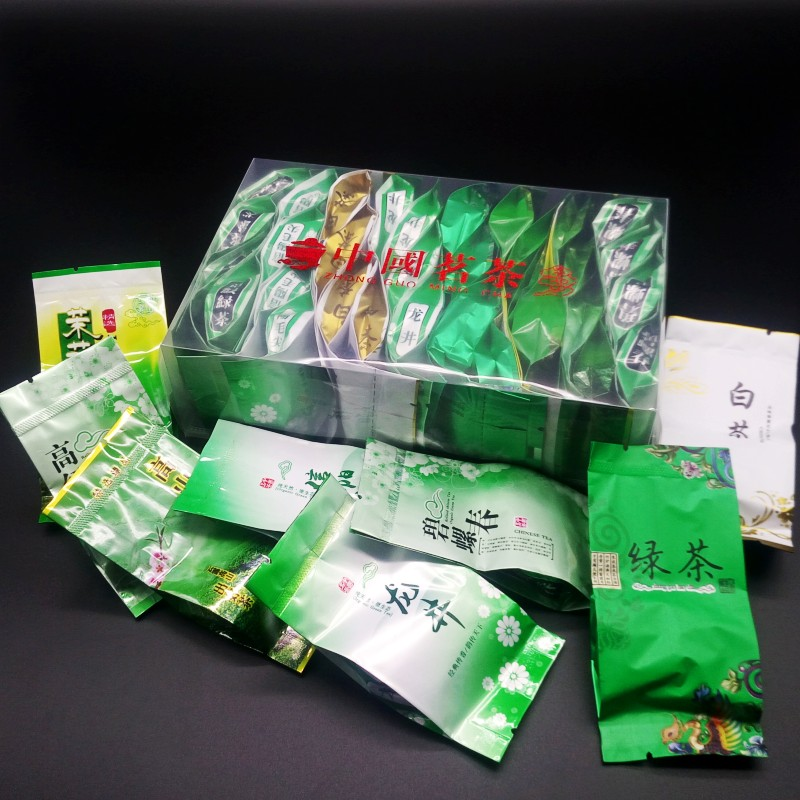 2019 New Spring Arrival Fresh Chinese Green Tea Top Grade Weight Loss Tea Healthy Care Tea 8 Kinds of Green tea Each 4 bags 1