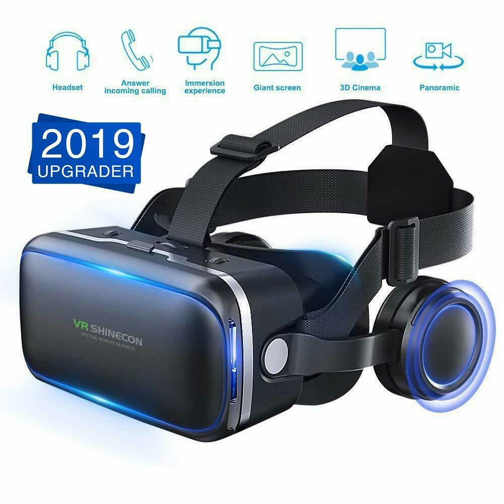 3D Glasses Virtual Reality Headset VR For Android iPhone Samsung VR Glasses Headset For Video Game R60 image
