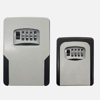 Safe Box Weatherproof 4 Digit Combination Outdoor Key Security Storage Case Key Lock Box Wall Mounted Aluminum alloy Key недорого