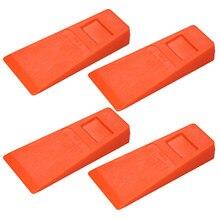 Uds 14cm de plástico de color naranja tala cuña caído cuña árbol de cuña con pinchos de la xilografía herramienta