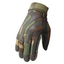 Новые мужские тактические перчатки военные армейские Пейнтбольные стрельбы страйкбол боевые противоскользящие резиновые жесткие перчатки для пальцев