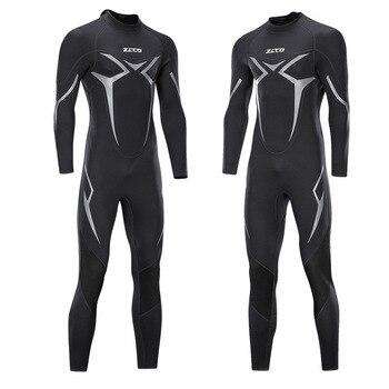 Men Wetsuit Full Body Suit Super Stretch Diving Suit Swim Surf Snorkeling Swimwear Sport Scuba Swimsuits Jumpsuit Diving Surfing