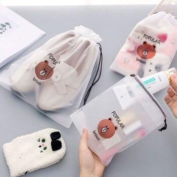 Animal Cosmetic Bag Organizer Women Storage Pouch Cute Makeup Bag Transparent Travel Toiletry Bag Make Up Bag Waterproof
