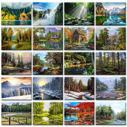 GATYZTORY 60x75cm Frameless Painting By Numbers Nature Landscape pictures by numbers DIY For Home Decoration Gift