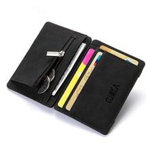 цены Korean Style Creative PU Magic Wallet Men Wallet Casual Credit Card Bag Small Zipper Coin Purse Short Paragraph Men Wallet