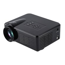 EU Plug Mini LED Video Projector Portable TV DVD Game Projectors LCD HD Video 3D Home Theater Education HDMI VGA AV USB Beamer