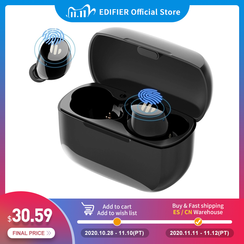 EDIFIER TWS1 wireless earphones bluetooth 5.0 aptX Touch control IPX5 Ergonomic design wireless earphones Bluetooth earphone 1