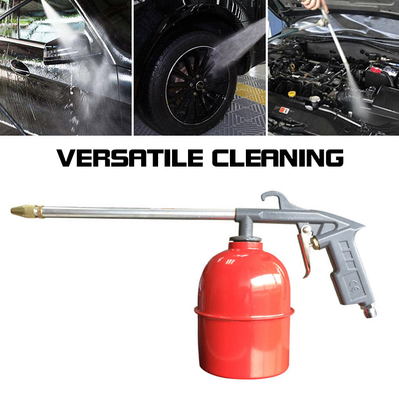 400mm Engine Oil Cleaner Tool Car Auto Water Cleaning Gun Pneumatic Tool With 120cm Hose Machinery Parts Car Engine Care Tool