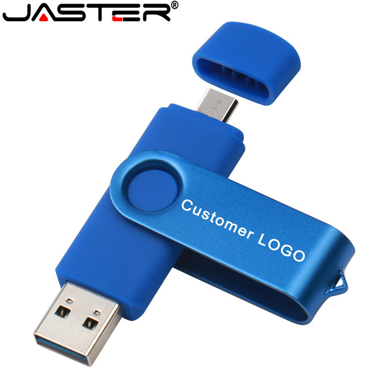JASTER  OTG USB Flash Drive Metal Pen Drive Usb Stick 8GB 16GB 32GB 64GB 128GB REAL Capacity Pendrive For Android Smartphone
