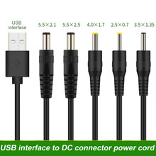 Usb macho a 3.5 × 1.35 × 4.0 × 1.7 × 5.5 × 2.1 × 5.5 × 2.5 × mm dc tambor jack cabo de alimentação ac plug transferência conector carregador interface conversor