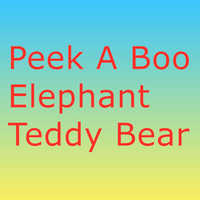 30cm Peek a Boo éléphant peluche ours en peluche