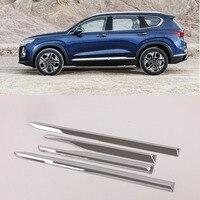 ABS Chrome Side Molding Cover Trim Body Garnish Accessories For 2019 2020 Hyundai Santa fe Santafe
