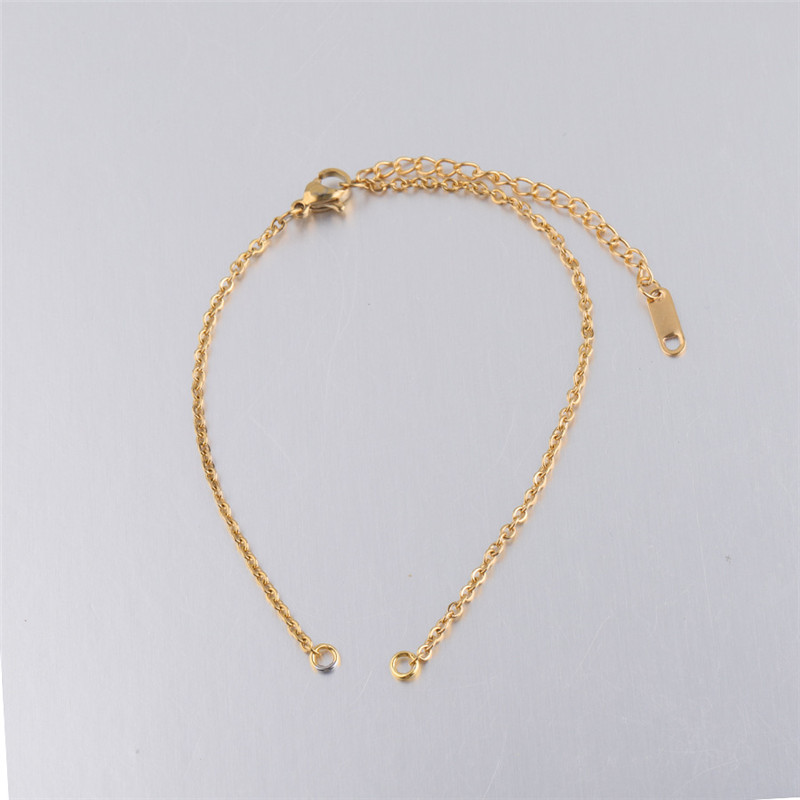 X ROYAL 5Pcs lot 2mm Stainless Steel Link Chain Gold Rose Gold DIY Bracelets Anklets Chains 20 6cm Length Jewelry Findings Chain in Jewelry Findings Components from Jewelry Accessories