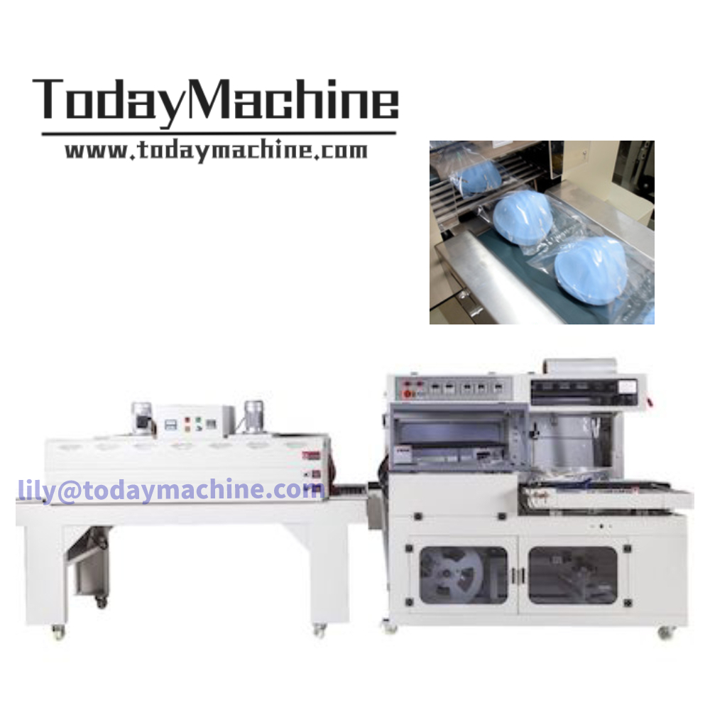 Mask Box PE Film PETG Label Sleeve Producing Line Tb 540 Shin Packing Machine Shrink Packing Machine