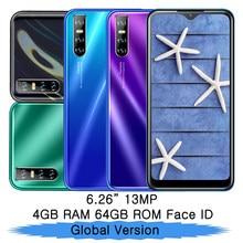 P20 Lite oryginalna ekranu kropli wody 4G RAM 64G ROM czterordzeniowy telefonów komórkowych odblokowany smartfonów Face id z systemem Android celulars telefony