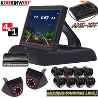 Koorinwoo AHD Moving Parking Line Camera Car Sensor Reverse Sensor Parktronic With Camera Car Monitor Video blind spot detection