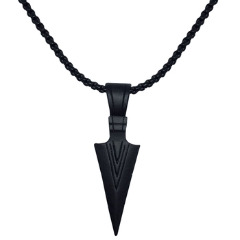 1PC Men's Vintage Alloy Arrowhead Pendant Necklace For Men Chocker Stainless Steel Fashion Jewelry image