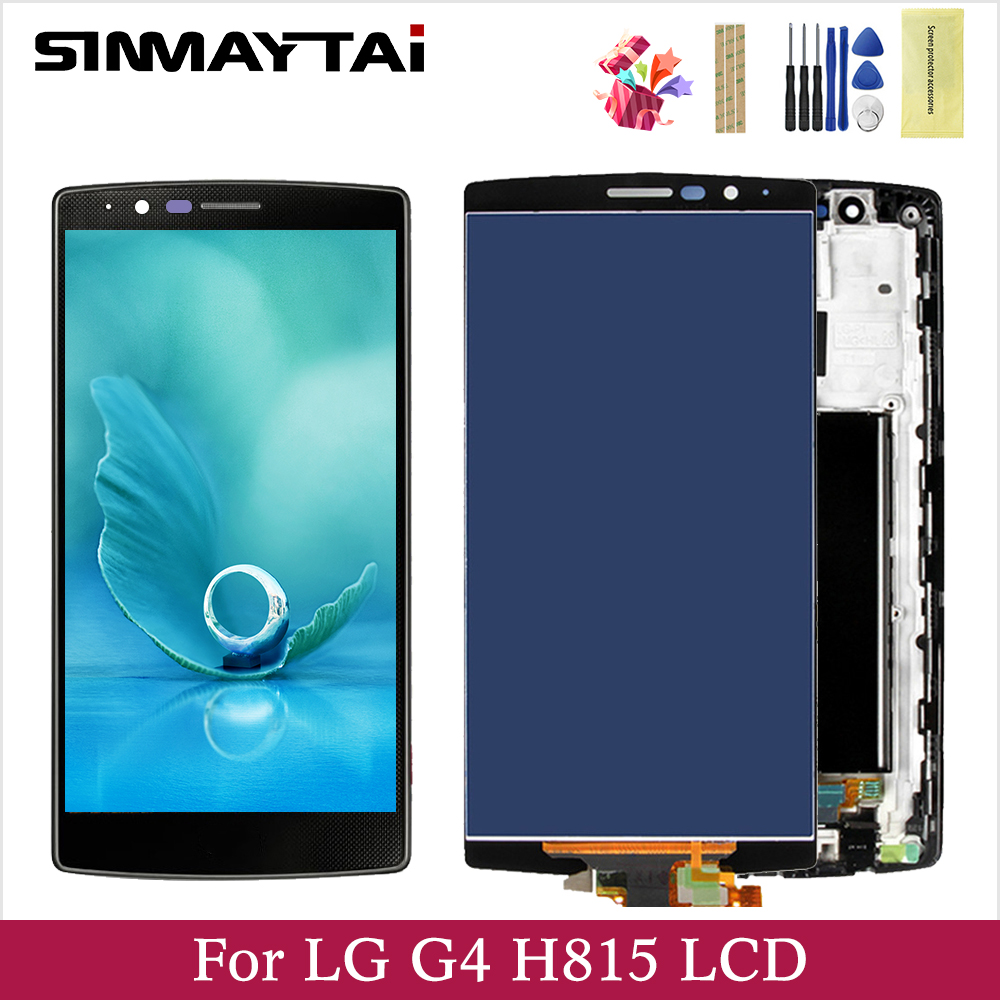 """For 5.5"""" LG G4 LCD Display Screen Frame+Touch Screen Panel Digitizer Replacement For H810 H811 H812 H815 VS986 F500L US991 LS991 Mobile Phone LCD Screens    - AliExpress"""