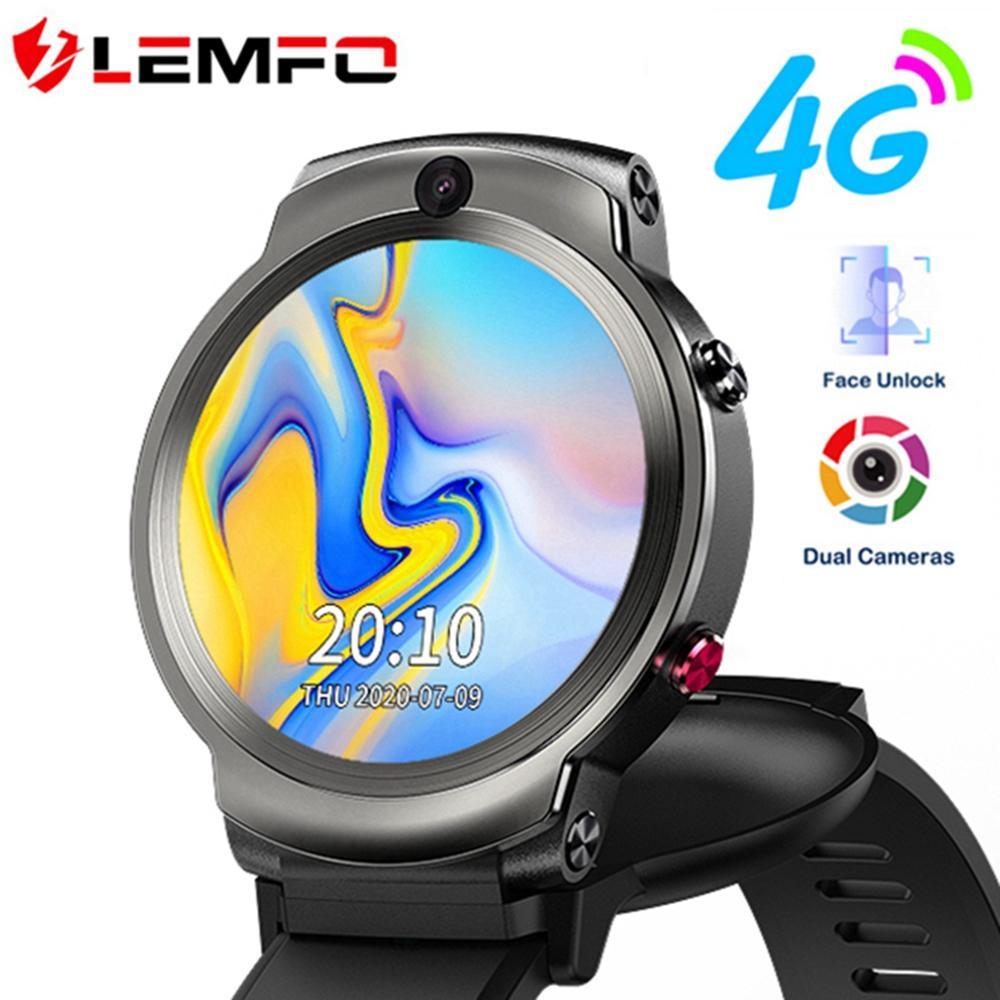 LEMFO LEM13 4G Smart Watch Men Dual Cameras 1 6 inch Flip Screen Face ID 1280mah Smartwatch Android 3G 32G WIFI GPS Phone Watch