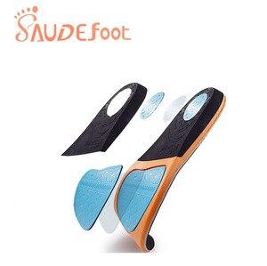 Image 4 - Saudefoot Shoe Insole Sneakers Cushion PU Damping Glue Ultra fine Velvet  Absorbing Memory Foam Increased Flexible Soft Shoe pad