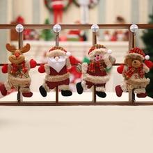 Happy New Year Christmas Ornaments DIY Xmas Gift Santa Claus Snowman Tree Pendant Doll Hang Decorations for Home