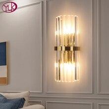 مصباح عصري LED جداري كريستالي ذهبي للديكور المنزلي تركيبات إضاءة حائطية لغرفة النوم مصباح شمعدان جداري شحن سريع عبر DHL/FedEx