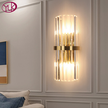 Modern LED Crystal Wall Light Gold Home Decor Wall Lighting Fixture Bedroom Hallway Wall Sconce Lamp Fast Shipping Via DHL/FedEx