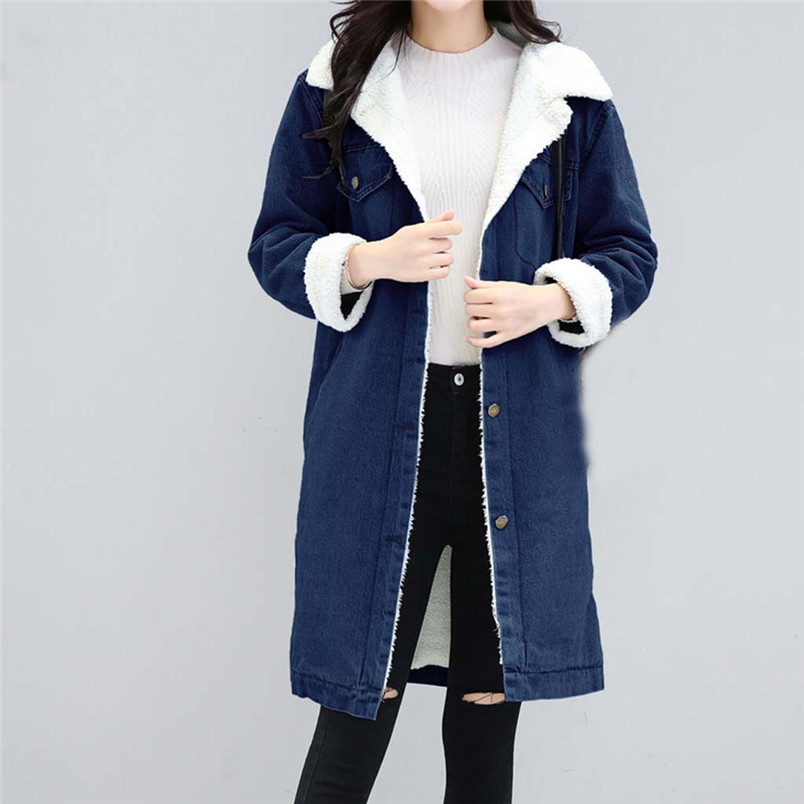 Winter Womens Blue Jean Jacket Thicken Warm Fleece Denim Coat Thickness Long Outwear Fashion Sweet Clothing For Ladies 50LY31 (11)