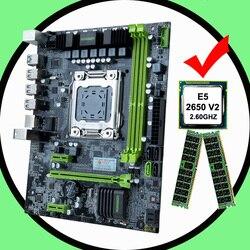 HUANANZHI płyta główna combos micro atx X79 LGA2011 płyta główna z procesorem intel xeon E5 2650 V2 RAM 32G sprzęt komputerowy DIY w Płyty główne od Komputer i biuro na