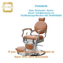 Equipo de salón de DS-T261, silla de barbero con piezas de silla de peluquería hidráulica de silla de barbero clásica profesional antigua