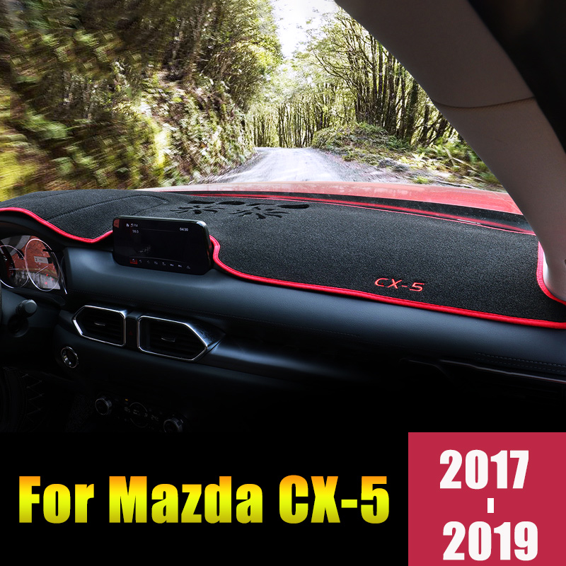 For MAZDA <font><b>CX</b></font>-<font><b>5</b></font> CX5 2012-2016 2017 <font><b>2018</b></font> 2019 LHD/RHD Car Dashboard Cover Mats Avoid Light Pads Anti-UV Case Carpets Accessories image