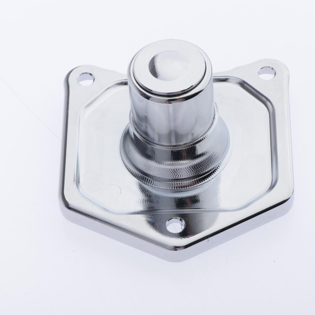 Magnet Abdeckung Starter Push Button Switch mit Schrauben Fir für Harley Big Twin 91-17 Motorräder-Silber