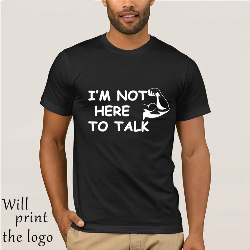 Men's Flex Bodybuilder T-Shirts I'm Not Here To Talk Funny TShirt