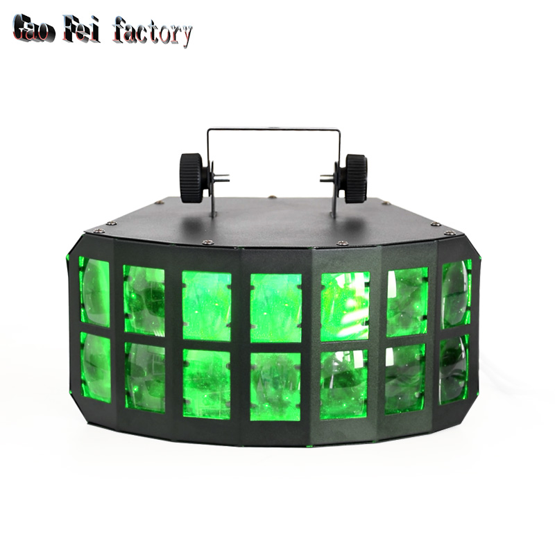 LED Derby Effect Light 2X15W RGBW 4in1 Led Bee Eye DMX Stage Lighting Effect DJ Disco Party Holiday Wedding Light