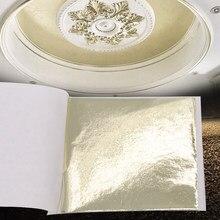 Folha de ouro imitação taiwan folha de liga champanhe prata brilho papel dourado para unhas artesanato parede fu