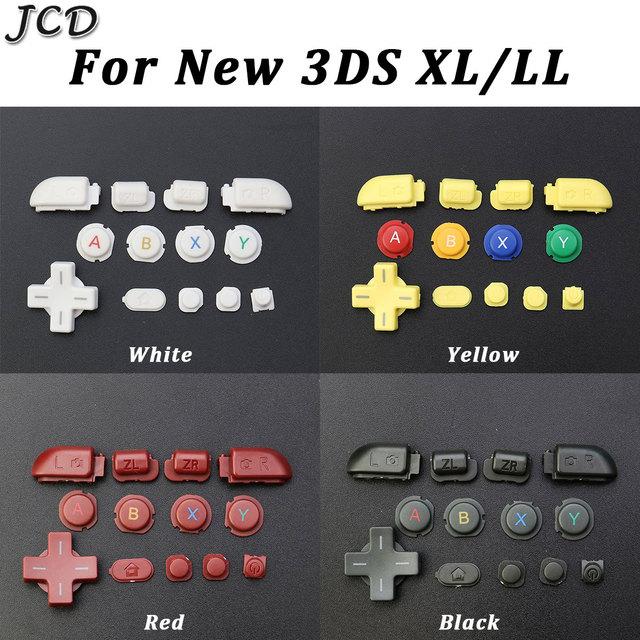 JCD สำหรับ New 3DSXL 3DSLL ที่สมบูรณ์แบบ D Pad A B X Y L R ZL ZR บ้านบน Power ปุ่มสำหรับ3DS XL LL