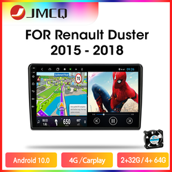 JMCQ Android 10.0 4G 8cores Car Radio For Renault Duster 2015-2018 Multimedia Video Player 2 din RDS DSP GPS Navigaion Head unit