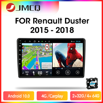 JMCQ Android 10.0 4G 8cores Car Radio For Renault Duster 2015-2018 Multimedia Video Player 2 din RDS DSP GPS Navigaion Head unit image