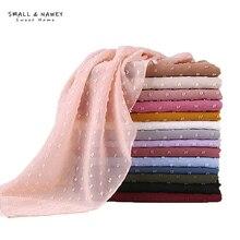 70*175CM New Hair Ball Chiffon Malaysia Indonesia Pure Color Chiffon Headscarf Pearl Chiffon Hijab Scarf Shawl Wholesale