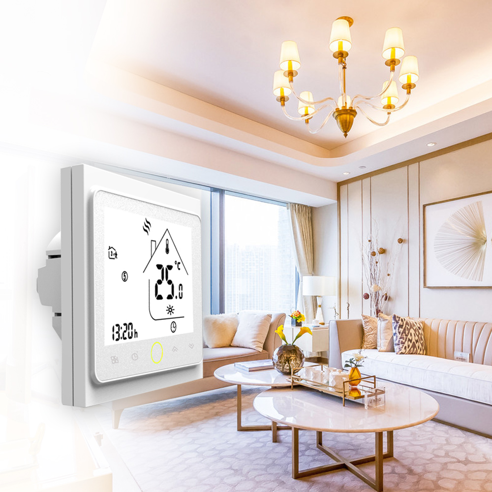 BHT-002GA 3A Water Heating Thermostat With Touchscreen LCD Display Energy Saving Smart Thermostat Temperature Controller