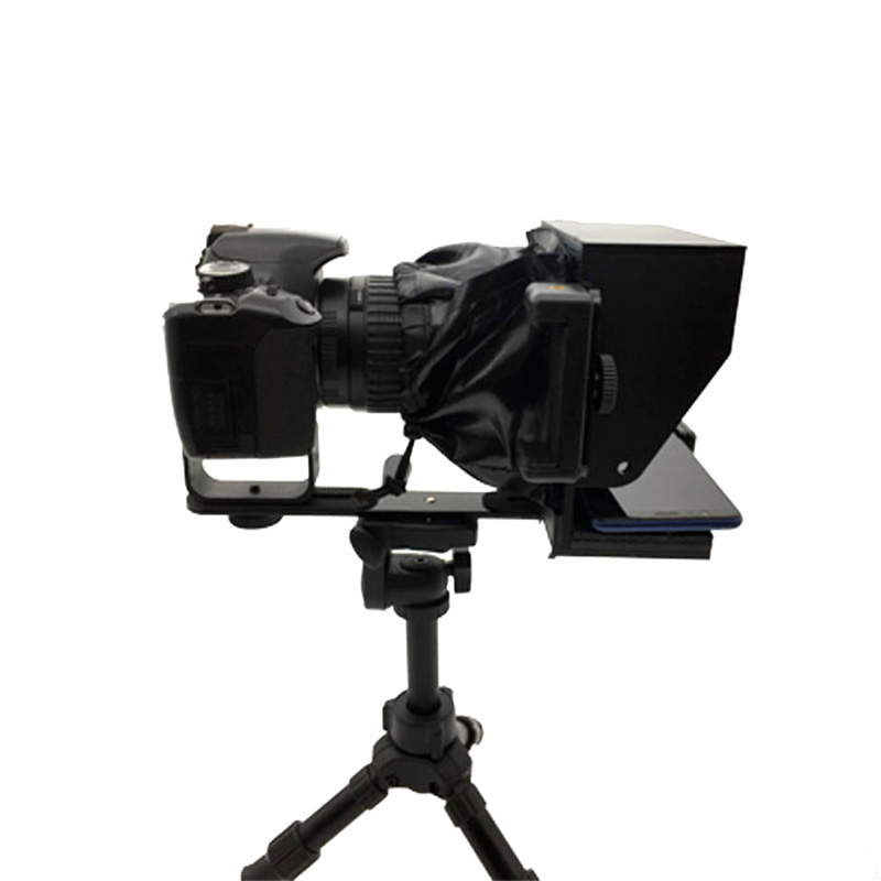 New Prompter Cameras Smartphone Teleprompter For Live Interview Speech Vlog Support DSLR Cameras Mobile Phone With Remote