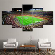 Спортивный постер футбольного поля 5 шт холст для футбола настенная