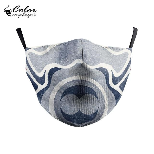 Color Cosplayer Super Hero Print Face Fabric Mask Cosplay Iron Man Masks Anti-fog Mouth Cover Mask Flu 3