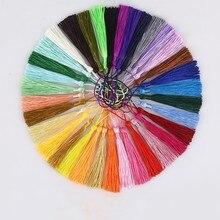 20 pçs cores misturadas 8cm pendurado corda borlas de seda franja costura bang borla guarnição chave borlas para diy embellish cortina acessório