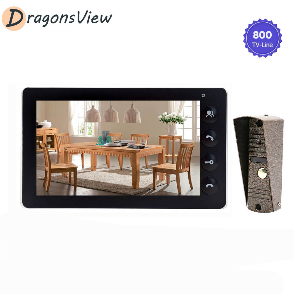 Dragonsview 7'' Lcd Wired Video Door Phone Visual Video Intercom System With Ir Outdoor Doorbell Camera Access Control For Home