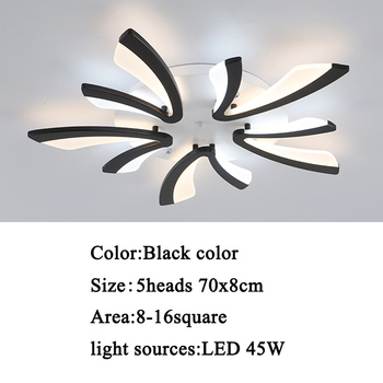 Led ceiling light for living room bedroom White/Black Simple Plafond led ceiling lamp home lighting fixtures AC90-260V 10