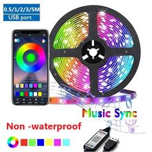 LED Strips Light Bluetooth App Wifi Controller Flexible RGB 5050 Led Diode Ribbon Lamp for Bedroom Tv Backlight Party Decoration
